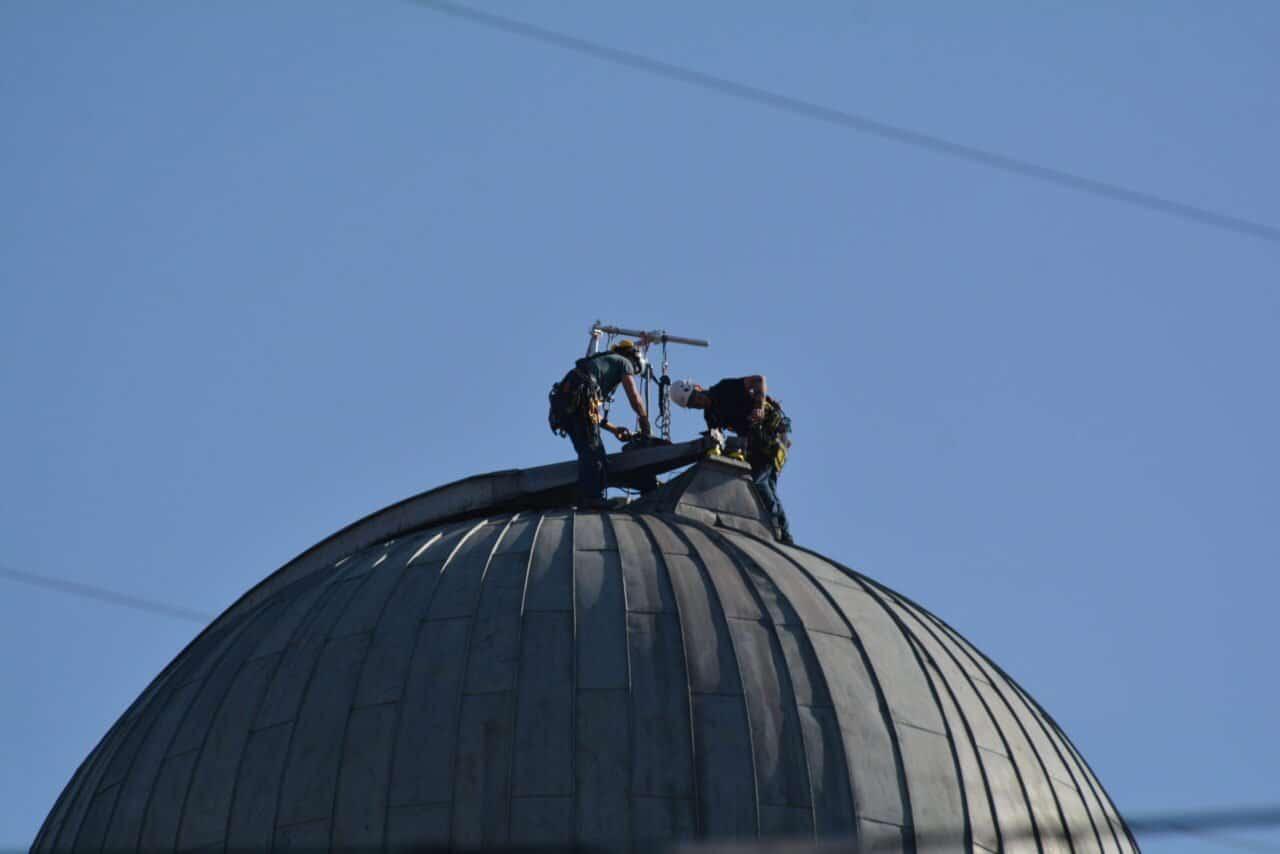 Zwei Maler auf der Kuppel
